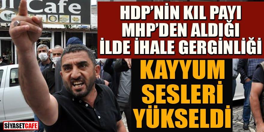 """HDP'nin kıl payı MHP'den aldığı ilde """"kayyum"""" sloganları!"""
