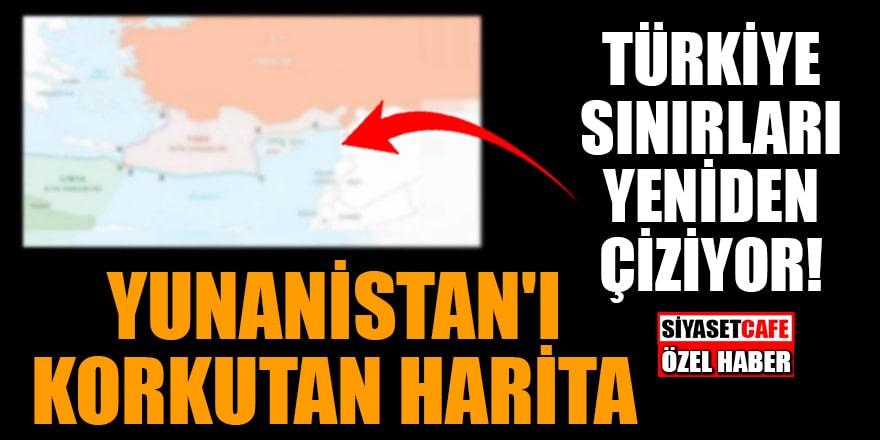 Türkiye sınırları yeniden çiziyor! Yunanistan'ı korkutan harita