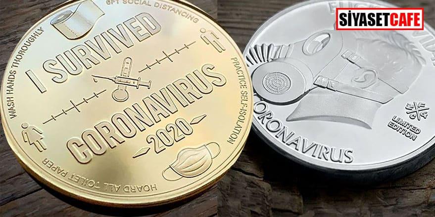 Koronavirüs salgını hatıra parasına ilham oldu