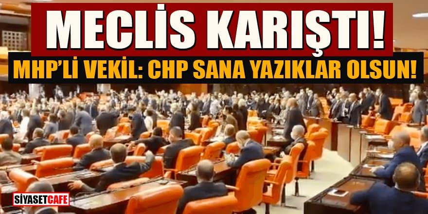 Meclis karıştı! MHP'li vekil görüntüleri paylaştı: CHP sana yazıklar olsun!