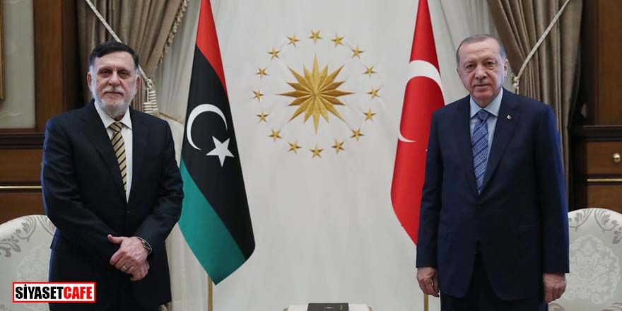 Erdoğan ile Libya Başbakanı Serrac'dan ortak basın açıklaması