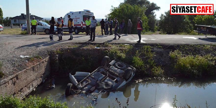 Sulama kanalına uçan sürücü kurtarılamadı