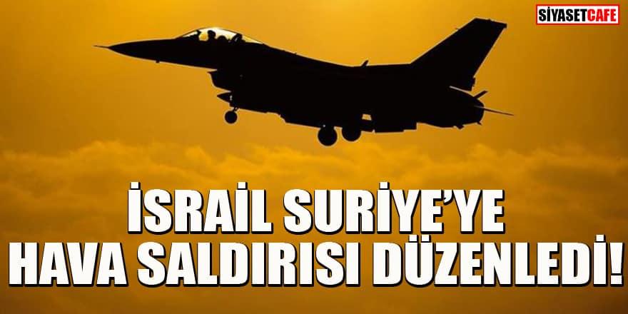 İsrail Suriye'ye hava saldırısı düzenledi iddiası!