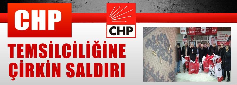 CHP Temsilciliğine saldırı! Kurşun bıraktılar bayraklar kesildi
