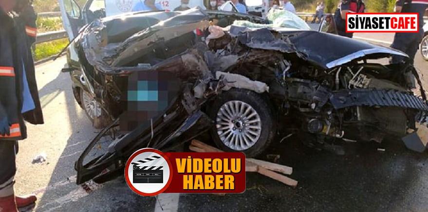 Mersin'de korkunç kaza: 3 ölü, 1 yaralı!