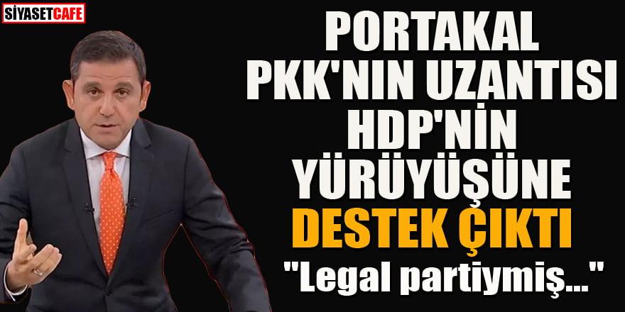 Fatih Portakal HDP'nin yürüyüşüne destek çıktı