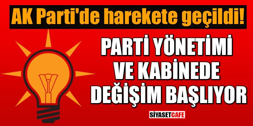 AK Parti'de harekete geçildi! Parti yönetimi ve kabinede değişim başlıyor