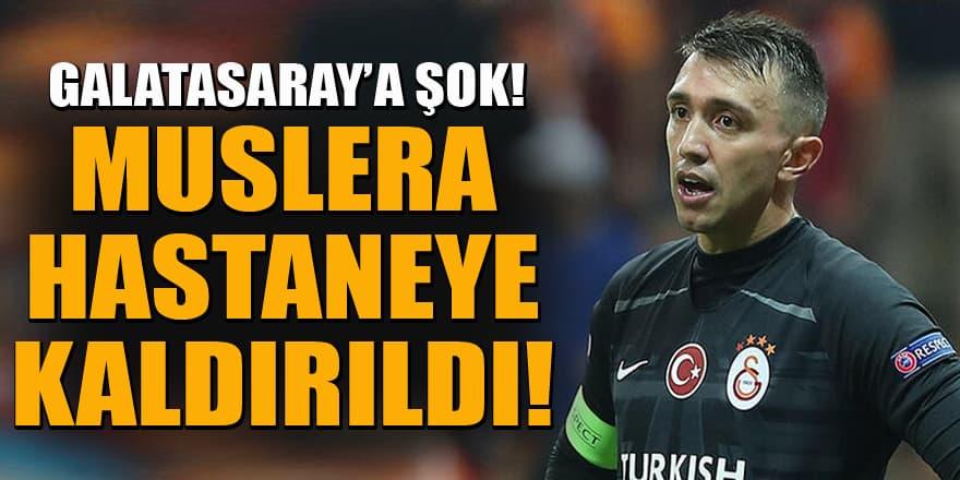 Galatasaray'a Muslera şoku! Hastaneye kaldırıldı!