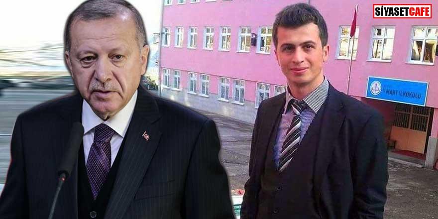Erdoğan şehit öğretmen Necmettin Yılmaz'ı andı