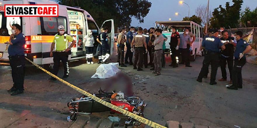 Adana'da motosiklet ciple çarpıştı: 1 ölü, 3 yaralı!