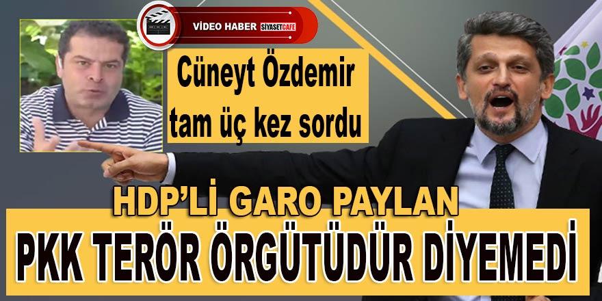 Cüneyt Özdemir tam üç kez sordu, HDP'li Garo Paylan PKK terör örgütüdür diyemedi!