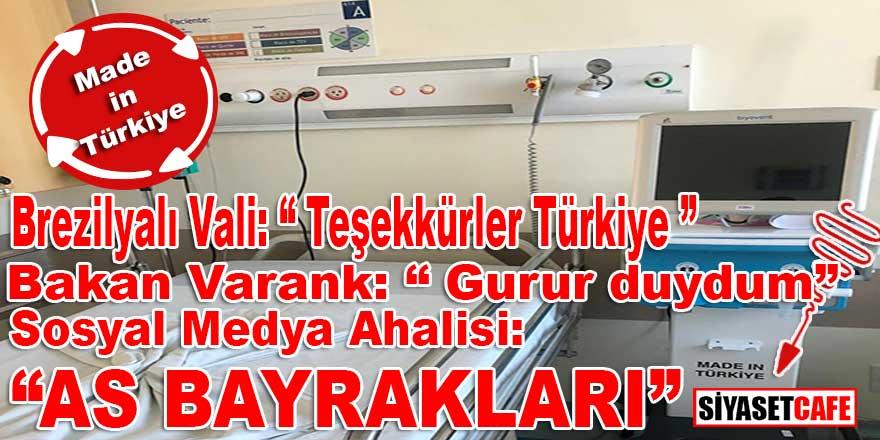 """Brezilyalı Vali """"Made in Türkiye"""" yazılı solunum cihazlarını paylaştı, sosyal medya yıkıldı!"""
