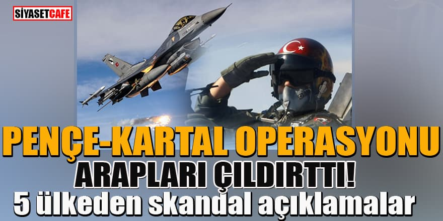 TSK'nın Pençe-Kartal operasyonu 5 Arap ülkesini rahatsız etti! Skandal açıklamalar