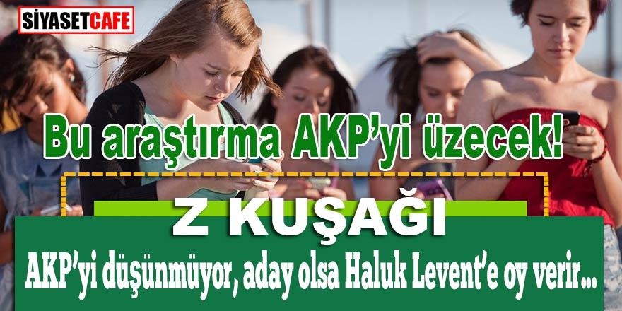 Bu araştırma AKP'yi üzecek! Z Kuşağı AKP'yi düşünmüyor, aday olsa Haluk Levent'e de oy verir