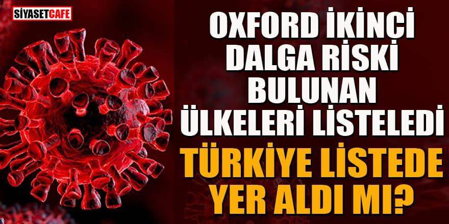 Oxford ikinci dalga riski bulunan ülkeleri hesapladı! Türkiye bu listede var mı?
