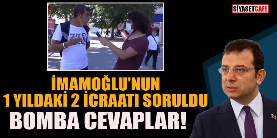 Ekrem İmamoğlu'nun 1 yıldaki icraatları soruldu! Cevaplar şaşırttı: Avrasya Tüneli ve Marmaray...