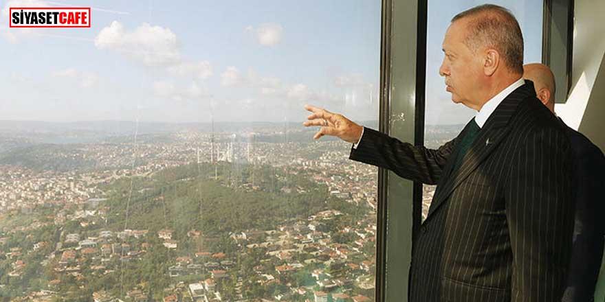 Erdoğan'dan, Çamlıca Kulesi'nde inceleme