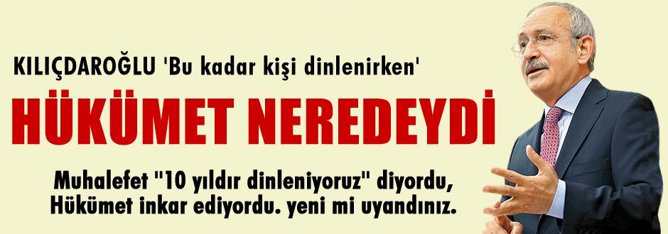 Kılıçdaroğlu'dan dinlenmelere  ilk yorum