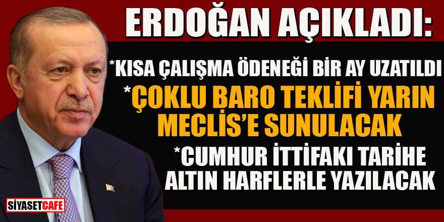 Erdoğan'dan kritik koronavirüs açıklamaları! İşte yeni kararlar...