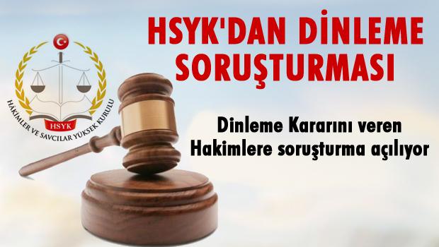 HSYK'dan 'dinleme' soruşturması