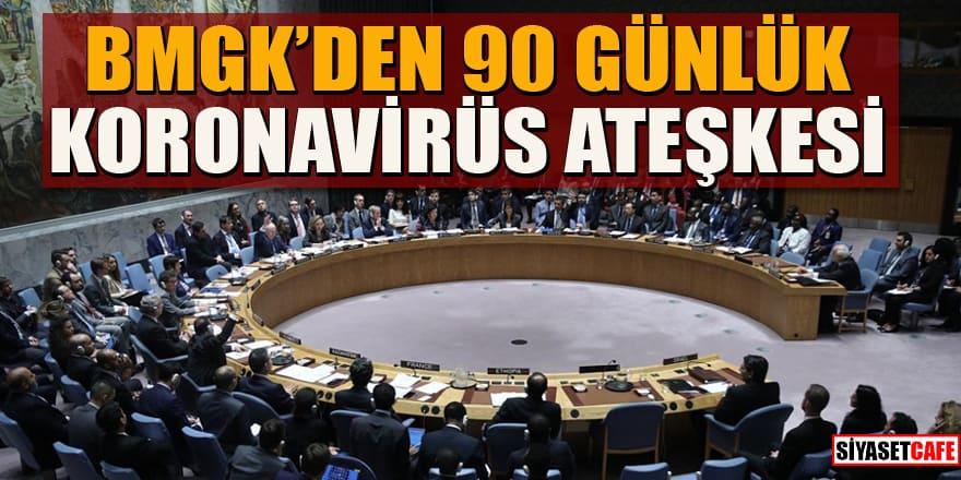 Birleşmiş Milletler Güvenlik Konseyi'nden 90 günlük küresel ateşkes kararı