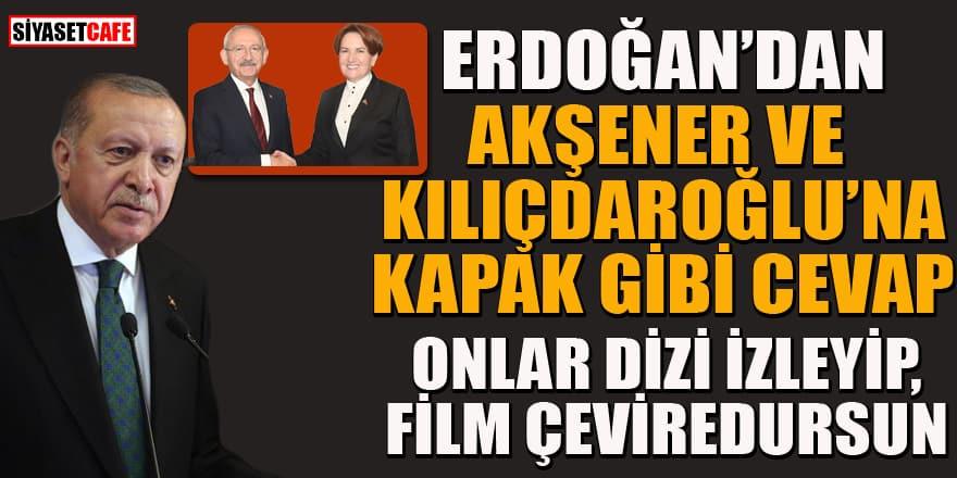 Erdoğan'dan Kılıçdaroğlu ve Akşener'e sosyal medya cevabı!