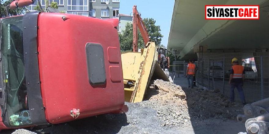 Bakırköy'de hafriyat kamyonu kazası