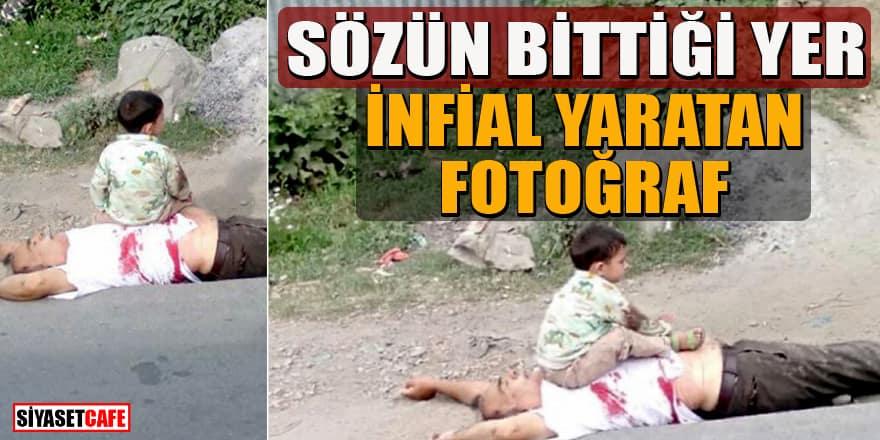 Keşmir'deki çocuk fotoğrafı sosyal medyada infial yarattı
