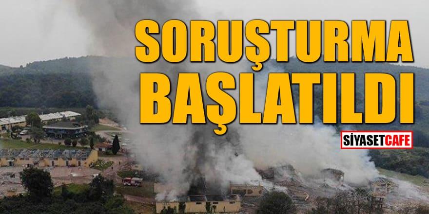 Havai fişek fabrikasındaki patlamaya ilişkin soruşturma başlatıldı