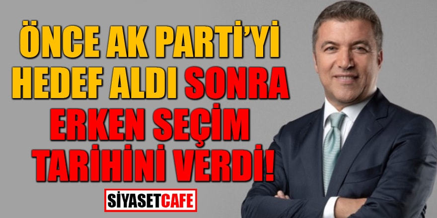 Babacan ve Davutoğlu'nun avukatlığına soyunanKüçükkaya erken seçim tarihini verdi