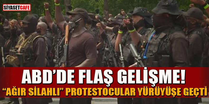 ABD'de flaş gelişme! 'Ağır silahlı' protestocular yürüyüşe geçti