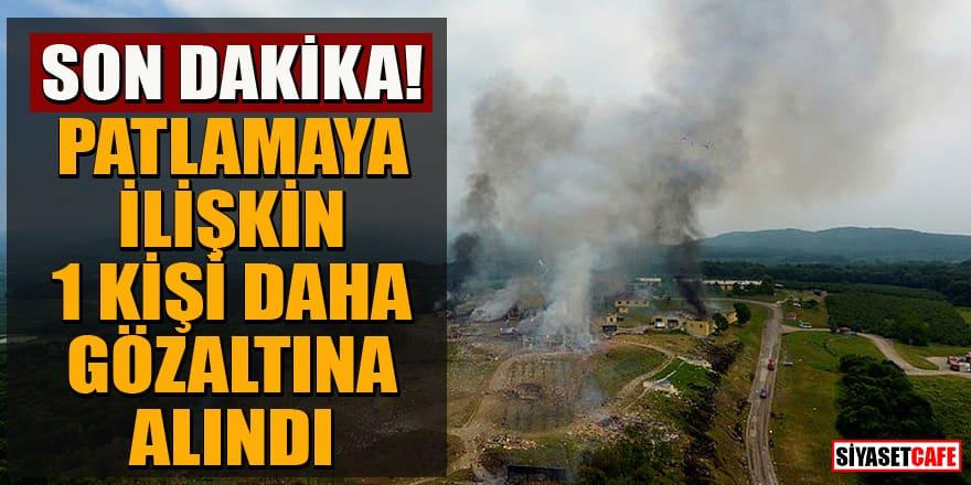 Sakarya'da havai fişek fabrikasındaki patlamaya ilişkin 1 kişi daha gözaltına alındı