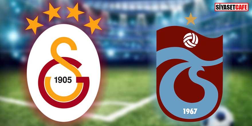 Galatasaray-Trabzonspor derbisinde ilk 11'ler belli oldu!