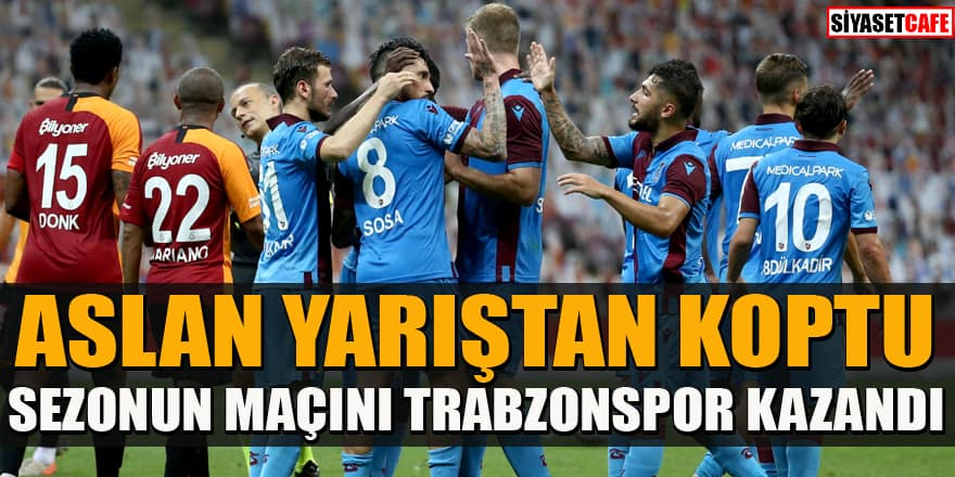Trabzonspor Galatasaray'ı evinde mağlup etti