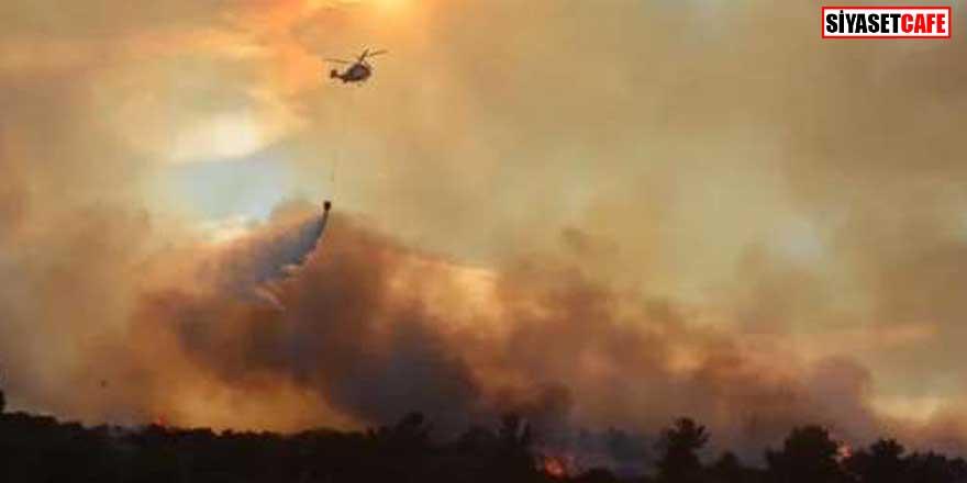 Bakan Pakdemirli'den Çanakkale'deki orman yangını açıklaması: 300 hektar alan...