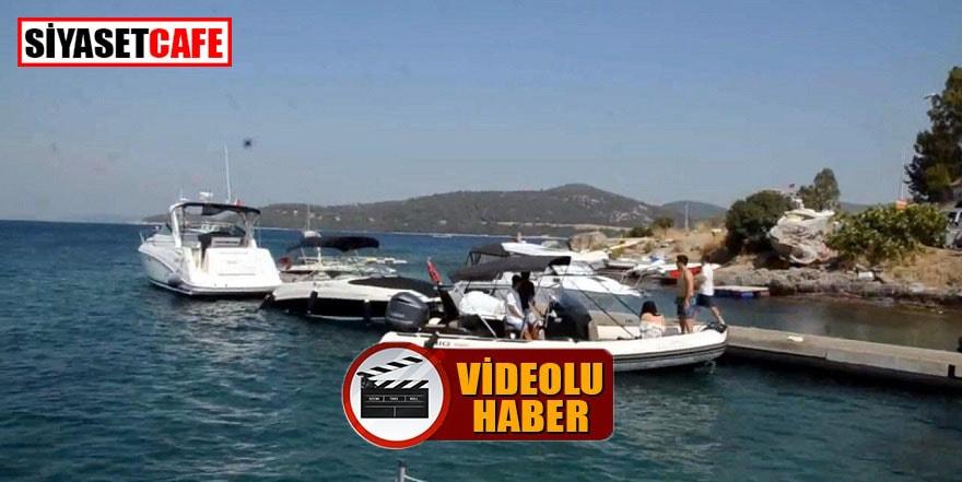 Bodrum'da kaptansız bot tehlike saçtı