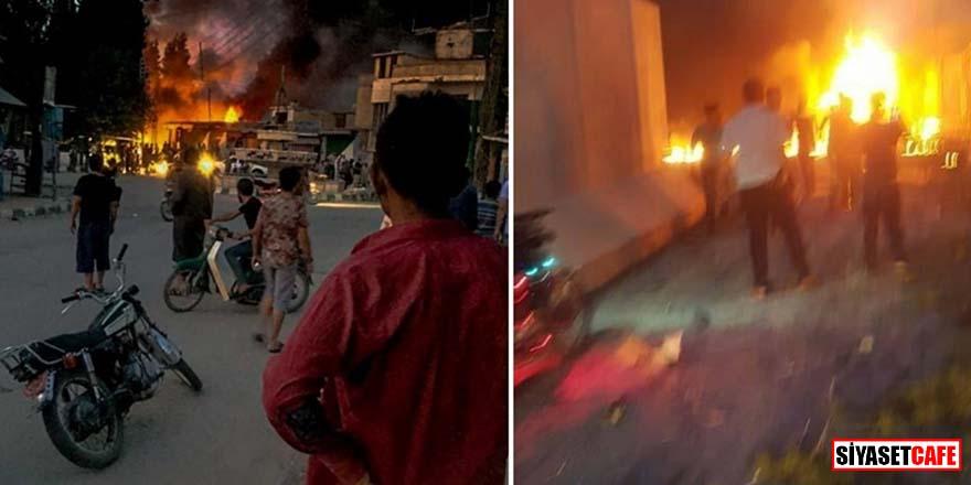 Tel Abyad'da bombalı terör saldırısı! Ölü ve yaralılar var!