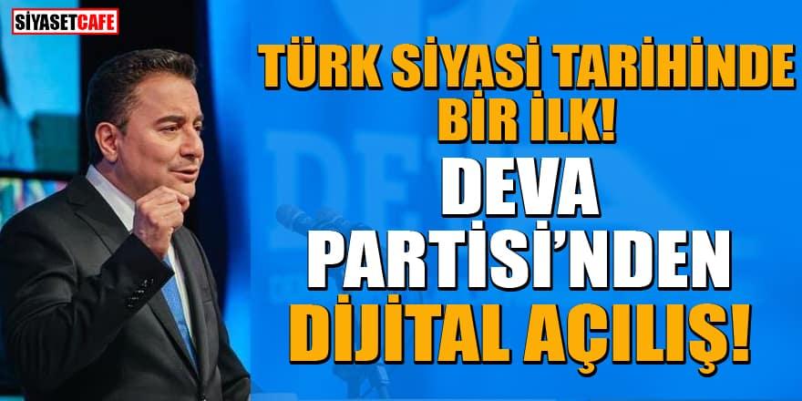 Ali Babacan DEVA Partisi Genel Merkezi'nin açılışını dijital ortamda yaptı