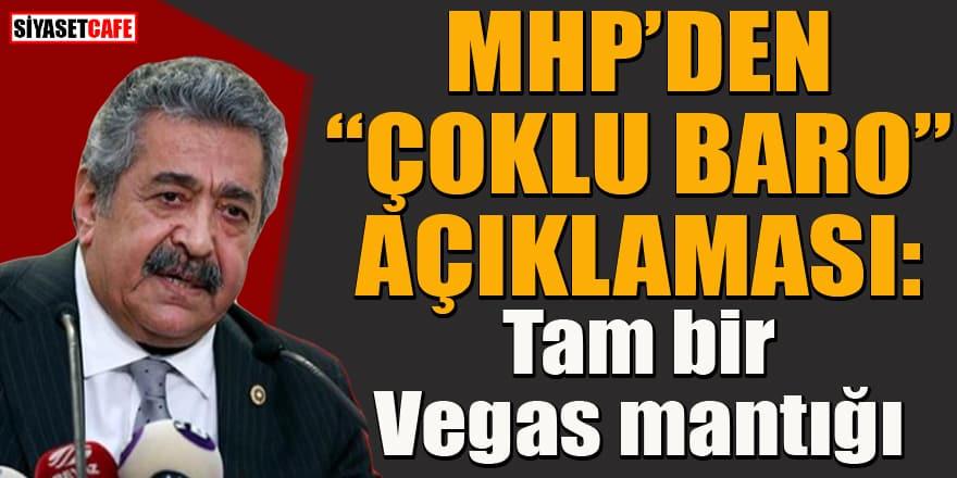 MHP'li Feti Yıldız'dan 'Çoklu baro' çıkışı: Tam bir Vegas mantığı