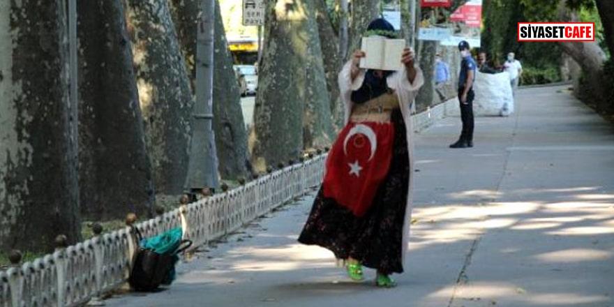 Dolmabahçe'de hareketli anlar! Şüpheli kadın gözaltına alındı