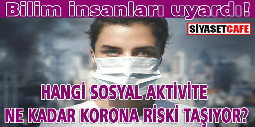 Dikkat! Bilim insanları uyardı! Önlem alsanız bile hangi sosyal aktivitede ne kadar korona virüs riski var?