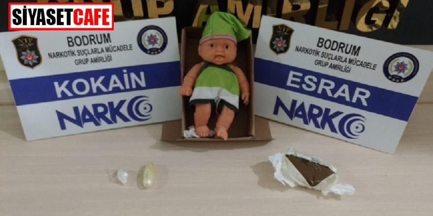 Muğla'da oyuncak bebekli narkotik operasyonu
