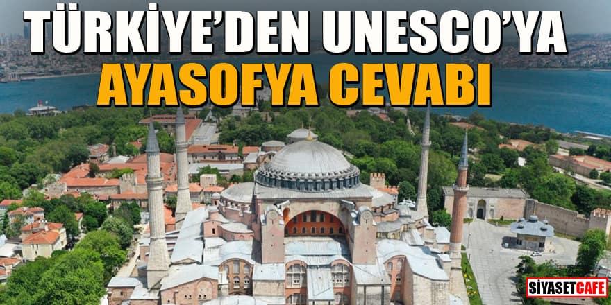 Türkiye'den UNESCO'ya madde madde Ayasofya cevabı!