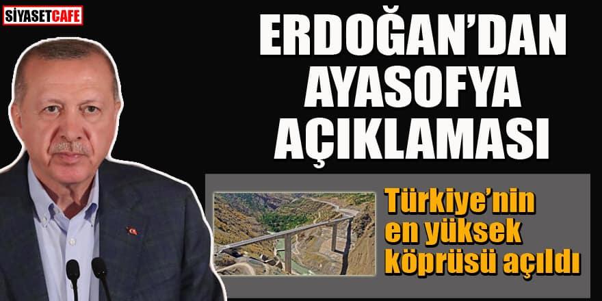 Erdoğan'dan Botan Çayı Köprüsü açılışında flaş açıklamalar