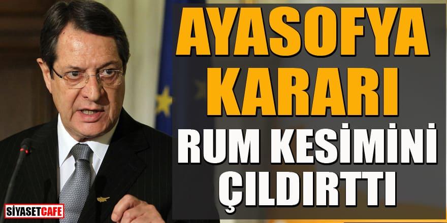 Türkiye'nin Ayasofya kararı Rumları rahatsız etti!