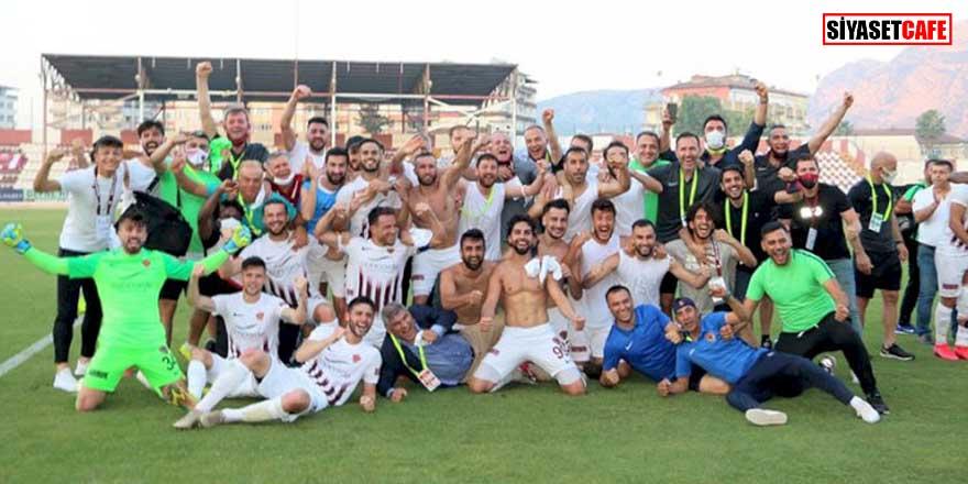 Süper Lig'e yükselen ilk takım Hatayspor oldu!