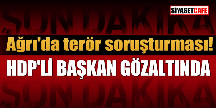 Ağrı'da terör soruşturması! HDP'li Belediye Başkanı gözaltına alındı