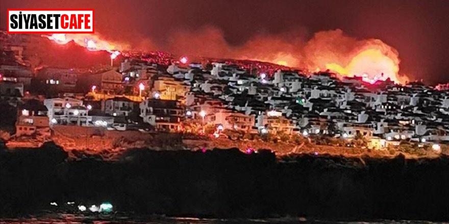 İzmir Karaburun'da yangın paniği