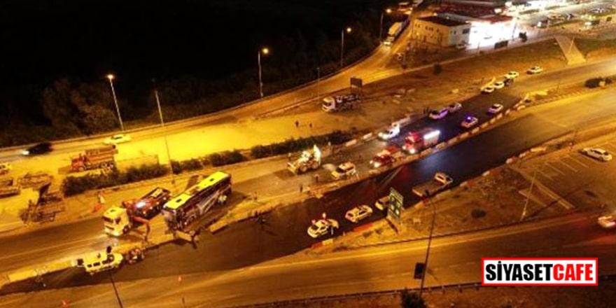 Bursa'da yolcu otobüsü devrildi! 1 ölü, 16 yaralı