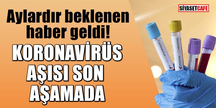 Aylardır beklenen haber geldi! Koronavirüs aşısı son aşamada